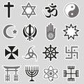 World religions symbols vector set of stickers eps Royalty Free Stock Photos