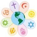 World Religions United Peace Flower Symbol Royalty Free Stock Photo