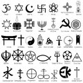World religious symbol easy to edit vector illustration of Royalty Free Stock Photography