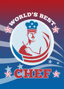 World's Best American Chef Greeting Card Poster Stock Photos
