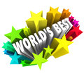 World s best stars colorful fireworks top greatest choice words in d letters surrounded by or to illustrate the ultimate or Royalty Free Stock Photo