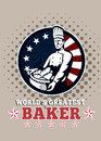 World's Greatest Baker Greeting Card Poster Royalty Free Stock Photos