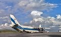 The world's largest cargo plane Ruslan (An-124-100) in loading Royalty Free Stock Photo