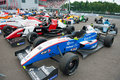 World series by renault moscow june formula cars show at in moscow raceway on june in moscow Stock Photo