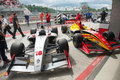 World series by renault moscow june formula cars show at pit lane at in moscow raceway on june in moscow Stock Photos