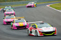 World series by renault moscow june megane trophy v cars race at in moscow raceway on june in moscow Stock Image