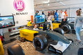 World series by renault moscow june people attend the formula simulator at in moscow raceway on june in moscow Stock Photography