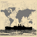 World Shipping Background Stock Image