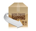 World shipping box illustration design over a white background Royalty Free Stock Photography