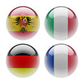 World sphere icon flags white background Royalty Free Stock Photo