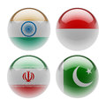World sphere icon flags white background Royalty Free Stock Images