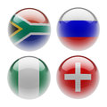 World sphere icon flags white background Stock Image