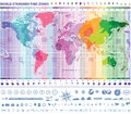 World standard time zones map Royalty Free Stock Photo