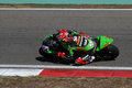 World supersport championship kenan sofuoglu drives kawasaki zx r of mahi racing team india in qualifying practice in istanbul Stock Images