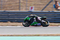 World supersport championship kenan sofuoglu drives kawasaki zx r of mahi racing team india in race in istanbul park on september Stock Image