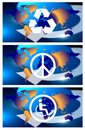 World symbols Stock Photo