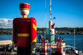 World tallest tin soldier the by the fraser river in new westminster british columbia canada Royalty Free Stock Image