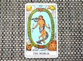The World Tarot Card Travel Succes Final stage Cycles