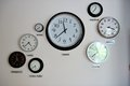 World time zone clocks Royalty Free Stock Photo