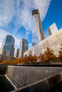 World trade center ground zero memorial at Stock Photo