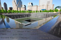 The World Trade Center memorial in New York City Royalty Free Stock Images