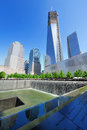 The World Trade Center memorial in New York City Royalty Free Stock Photography