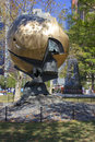 World Trade Center Sphere damaged at September 11 in Battery Park Royalty Free Stock Photo