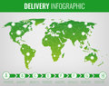 World transportation and logistics. Delivery and shipping infographic elements. Vector Royalty Free Stock Photo