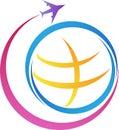 World travel logo Royalty Free Stock Photo