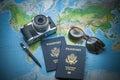 World travel passports Royalty Free Stock Photo