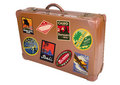 World traveler suitcase Stock Photo
