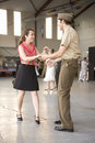 World War II actors dance Royalty Free Stock Images