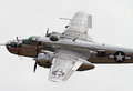 World War II B-25 Mitchell Bomber Stock Photo