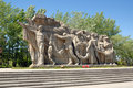 World War II Memorial obelisk on Mamayev Kurgan Royalty Free Stock Photography