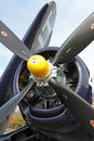 World War II Navy Corsair Fighter Aircraft Royalty Free Stock Photo