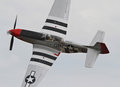 World War II P-51 Mustang Fighter Aircraft Royalty Free Stock Photo
