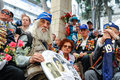 World war ii veterans at the celebration of th may soviet victory day in jerusalem israel Royalty Free Stock Image