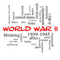 World war ii word cloud concept in red caps with great terms such as guns axis allies victory and more Stock Photo