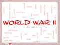 World war ii word cloud concept on a whiteboard with great terms such as guns axis allies victory and more Royalty Free Stock Photography