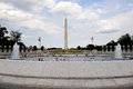 World war memorial and washington monument the in d c Royalty Free Stock Photo