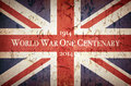 World war one centenary union jack vintage style to commemorate the of Stock Photography