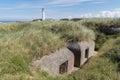 World war two bunker in front of Hirtshals Fyr Lighthouse, Denmark