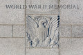 World war two memorial the in washington dc show the united states seal carved into stone Royalty Free Stock Photography