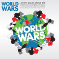 World wars conceptual illustration vector eps Stock Photos