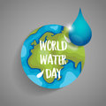 World water day background design. Vector illustration Royalty Free Stock Photo