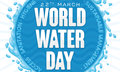World Water Day Design with Splash, Greeting Message and Precepts, Vector Illustration
