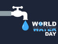World water day flat style poster