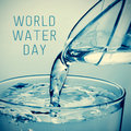 World water day Royalty Free Stock Photo