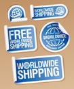 World-wide shipping stickers. Stock Photography
