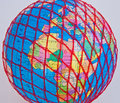 World wide web: Europe and Africa. Royalty Free Stock Photo
